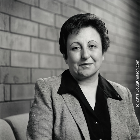 Knutson Photography Inc, Nobel Peace Portraits: nobelpeaceportraits.com/shirin_ebadi.html